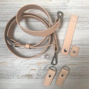 Набор фурнитуры для сумки-ракушки (натуральная кожа)